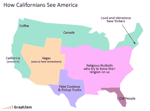 New Map Depicts Each US State By Most Distinctive Artist Bogus - Accurate map of us